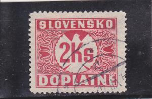 Slovakia  Scott#  J21  Used