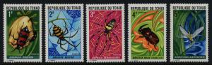 Chad 252-6 MNH Insects, Spiders