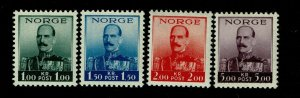 Norway SC# 177-180, Mint Never Hinged, small ink dots - S9403