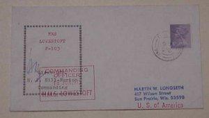 GREAT BRITAIN HONG KONG FPO 958  AUTOGRAPH LT.CDR NJ HILL NORTON HMS LOWESTOFT