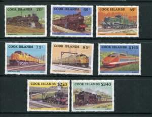 Cook Islands MNH 858-65 Locomotives