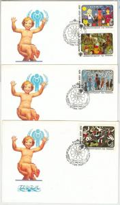 61563 - RUSSIA USSR - POSTAL HISTORY - 3 FDC COVER 1979:  CHILDREN'S YEAR Music