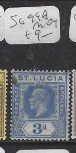 ST LUCIA  (P2905B)   KGV  3D  SG 99A    MOG