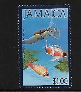 JAMAICA, 480, MINT HINGED, SCUBA DIVING