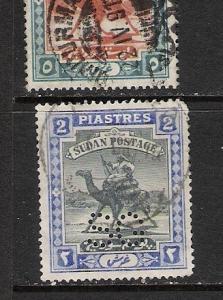 SUDAN OFFICIAL PERFIN SG YVERT 36 M1151