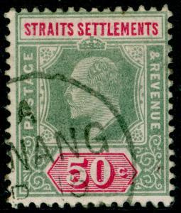 MALAYSIA - Straits Settlements SG118a, 50c dull green & carm FINE USED. Cat £24.