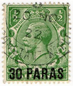 (I.B) Lebanon Postal : British Levant 30pa on ½d OP