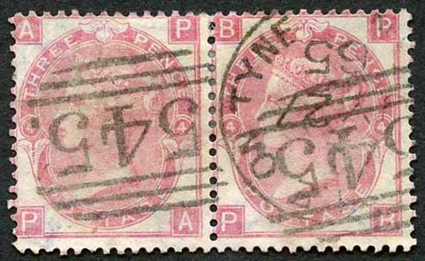 SG92 3d Rose Wmk Emblems Pair Fine Used cat 500 pounds