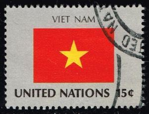 UN New York #328 Flag of Viet Nam; Used (0.25)