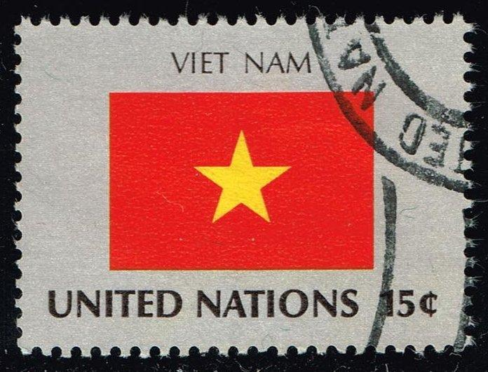 UN New York #328 Flag of Viet Nam; Used (0.25)