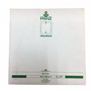 5pcs PRINZ Standard Stamp Strip Mounts Pre Cut Strips (210 x 170mm) CLEAR