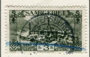 GERMANY SAAR;   1926 ( Dec ) Pictorial issue fine used 3Fr. value