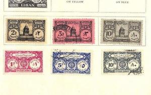 SA990 1945 LEBANON Postage Dues Original Album page from oldtime collection
