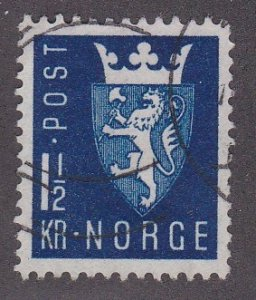 Norway # 268, New National Arms, Used, 1/2 Cat.