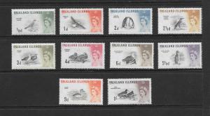BIRDS - FALKLAND ISLANDS #128-137