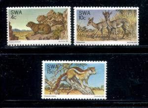 South Africa 391-393, MNH, Animals 1976. x22735