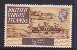 British Virgin Islands 1970 Carib Canoe 1/2c Mint LH