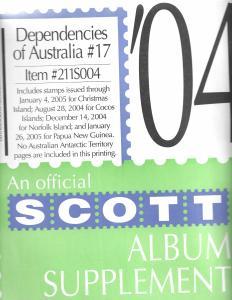 Scott Dependencies of Australia #17 Supplement 2004