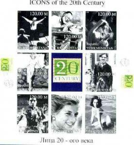 Turkmenistan 1999 Icons of the 20th Century #2 imperf she...