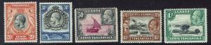 KENYA UGANDA & TANGANYIKA 1935 KGV PICTORIAL RANGE TO 1/-