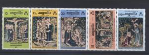 ANGUILLA -Scott 253b- 3 Mary - 1976 - Horizontal Strip of 5 Stamps
