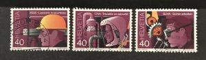 Switzerland 1978 #659-61, Used, CV $2.75