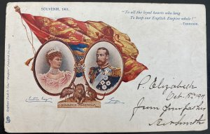 1901 Port Elizabeth Cape Of Good Hope South Africa Postcard Cover To Canada