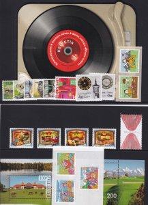 Switzerland 2014 Complete Year Set Incl. Souvenir sheets MNH