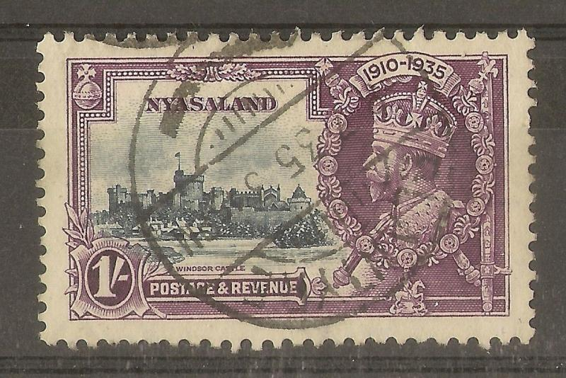 Nyasaland 1935 1/- Silver Jubilee SG126 Fine Used Cat£55