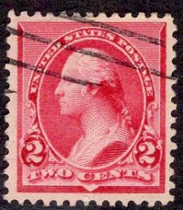 US Stamp #220c CAP ON BOTH 2s Variety USED SCV $35.00. Stellar Stamp
