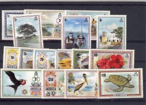 Anguilla, 145-60, Various Scenes Definitive Singles **MNH**
