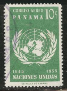 Panama  Scott C199 Used 1958 UN airmail