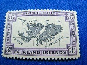 FALKLAND ISLANDS  1933  -  SCOTT # 69  -  MH           (Hf4)