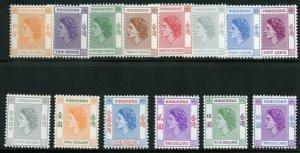 HONG KONG SCOTT#185/98 QE II DEFINITIVES  MINT NEVER  HINGED SCOTT VALUE $229.85