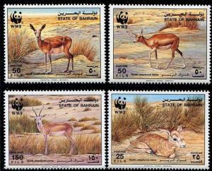 Bahrain 1984 Scott 408-411 World Wildlife Federation MNH
