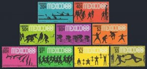 Mexico 981-985,C328-C331,MNH.Michel 1236-1244. Olympics Mexico-1968.Canoeing,