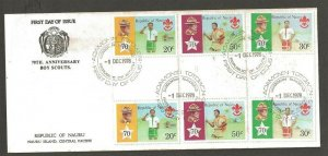 1978 Boy Scouts Nauru 70th anniversary gutter pairs FDC