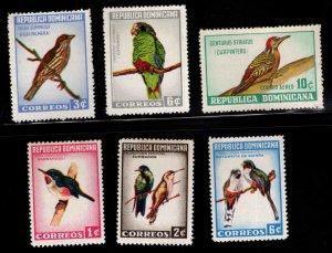 DOMINICAN REPUBLIC 1964 Bird set MH* Scott 596-597, C134, 602-604