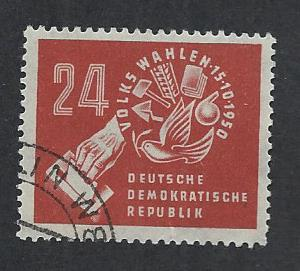GERMANY - DDR SC# 70 FVF/CTO 1950