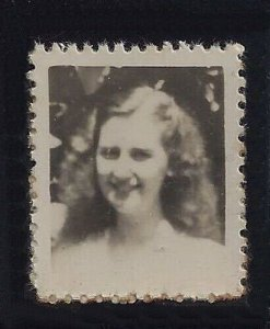 Vintage Cinderella Photostamp Stamp  With Picture of Young Woman