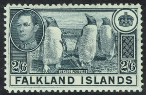FALKLAND ISLANDS 1938 KGVI PENGUINS 2/6