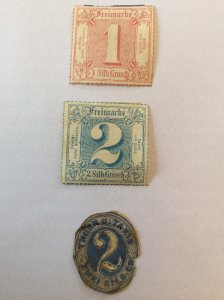 Thurn and Taxis 1, 2 and 2 cut out  Northern District