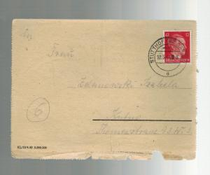 1944 Germany Danzig Stutthof Concentration Camp KZ Letter Cover L Zelanowski