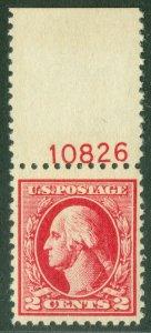 EDW1949SELL : USA 1926 Scott #526 Beautiful VF+ NH Plate # single. Catalog $57+