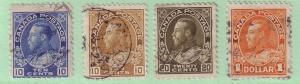 117-119, 122 Canada KG V Admiral Issue, used    118