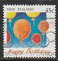 1991 New Zealand - Sc 1045 - used VF - 1 single - Balloons