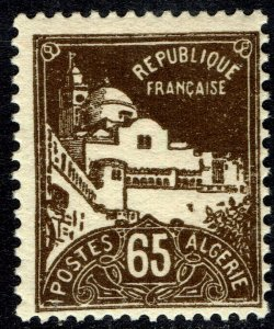 Algeria #52  MNH - 65c brown La Pecherie Mosque (1927)