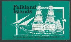 Falkland  # 260//269 Ships - £1 Complete Booklet (1) Mint