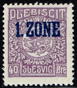 GERMANY STAMP PLEBISCIT 1.ZONE OVERPRINT SLESVIG  40øre MH/OG TYPE 9 IV  $120