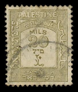 Palestine - British Administration J19 Used